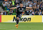 Besart Berisha of the Victory celebrates his goal during the ACL first round match between Melbourne Victory (AUS) and Shanghai SIPG (CHN) played at the Rectangular Stadium in Melbourne on Wednesday 24th February, 2016. Picture: Mark Dadswell/Lagardere Sports