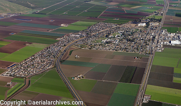 aerial photograph of the City of Salinas, Monterey County, California in spring