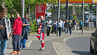 17th May 2020,Stadion An der Alten Försterei, Berlin, Germany; Bundesliga football, FC Union Berlin versus Bayern Munich;  Fans await the arrival of the team buses outside the stadium
