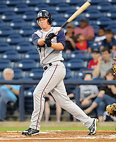10 April 2008: Cyle Hankerd of the Mobile BayBears, Class AA affiliate of the Arizona Diamondbacks, in a game against the Mississippi Braves at Trustmark Park in Pearl, Miss. Photo by:  Tom Priddy/Four Seam Images