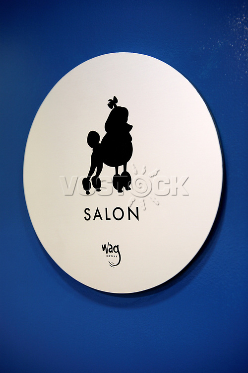 The Salon at the Wag Hotel in San Francisco, CA, on Saturday, May 13, 2007. It offers grooming and pedicure services. The Wag hotel, a luxury resort for dogs, opened in San Francisco on Saturday, May 12, 2007. It offers over 230 rooms and suites specifically designed for its four-legged guests as well as spa services such as pedicures, facials, massage and grooming. <br /> <br /> <br /> <br /> <br /> <br /> (Bildtechnik: sRGB, <br /> <br /> 36.39 MByte vorhanden)