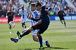 CD Leganes's Oscar Rodriguez and Valencia CF' Jacundo Sebastian Roncaglia during La Liga match, Round 25 between CD Leganes and Valencia CF at Butarque Stadium in Leganes, Spain. February 24, 2019. (ALTERPHOTOS/A. Perez Meca)