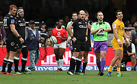 Referee: Angus Gardner (Australia) during the Super Rugby match between the Cell C Sharks and the Jaguares  April 8th 2017 - at Growthpoint Kings Park,Durban South Africa Photo by (Steve Haag)