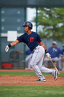Cleveland Indians Juan Garcia (44) during an instructional league game against the Los Angeles Dodgers on October 15, 2015 at the Goodyear Ballpark Complex in Goodyear, Arizona.  (Mike Janes/Four Seam Images)