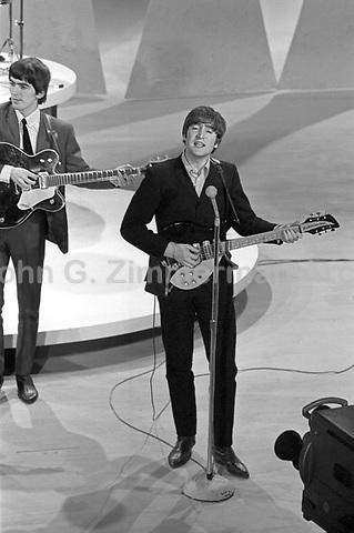 John Lennon Beatles Ed Sullivan Show 1964 Jpg John G Zimmerman Archive