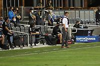 SAN JOSE, CA - OCTOBER 18: San Jose Earthquakes head coach Matias Almeyda during a game between Seattle Sounders FC and San Jose Earthquakes at Earthquakes Stadium on October 18, 2020 in San Jose, California.