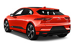 Car pictures of rear three quarter view of a 2019 Jaguar I Pace HSE 5 Door Hatchback angular rear
