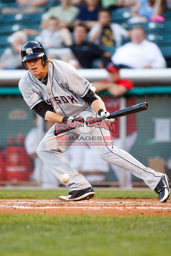 July 8, 2009: Chris Frey of the Colorado Springs Sky Sox, Pacific Cost League Triple A affiliate of the Colorado Rockies, during a game at the Spring Mobile Ballpark in Salt Lake City, UT.  Photo by:  Matthew Sauk/Four Seam Images