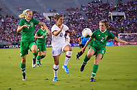 PASADENA, CALIFORNIA - August 03:  during their international friendly and the USWNT Victory Tour match between Ireland and the United States at the Rose Bowl on August 03, 2019 in Pasadena, CA.