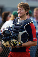 Cedar Rapids Kernels catcher Abel Baker #3 during practice before a game against the Quad Cities River Bandits at Modern Woodmen Park on June 30, 2012 in Davenport, Illinois.  Quad Cities defeated Davenport 8-7.  (Mike Janes/Four Seam Images)
