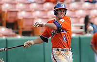 October 25, 2009: John Hinson of the Clemson Tigers in an intra-squad Orange and Purple scrimmage game at the end of fall practice at Doug Kingsmore Stadium in Clemson, S.C. Photo by: Tom Priddy/Four Seam Images