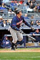 Apr 07, 2011; Bronx, NY, USA; Minnesota Twins infielder Jim Thome (25) during game against the New York Yankees at Yankee Stadium. Yankees defeated the Twins 4-3. Mandatory Credit: Tomasso DeRosa/.Four Seam Images