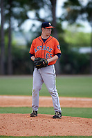 Houston Astros David Schmidt (65) during a minor league Spring Training game against the Detroit Tigers on March 30, 2016 at Tigertown in Lakeland, Florida.  (Mike Janes/Four Seam Images)