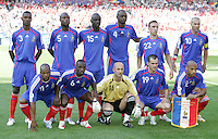 France starting XI. France and Switzerland played to a 0-0 tie in their FIFA World Cup Group G match at the Gottlieb-Daimler-Stadion, Stuttgart , Germany, on Tuesday, June 13, 2006.