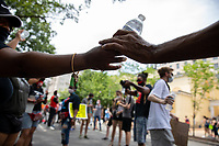 Volunteers pass out free water near the White House during a march against police brutality and racism in Washington, D.C. on Saturday, June 6, 2020.<br /> Credit: Amanda Andrade-Rhoades / CNP/AdMedia