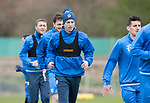 St Johnstone Training…14.04.17<br />Striker Steven MacLean pictured during training at McDiarmid Park this morning ahead of tomorrow's game against Aberdeen.<br />Picture by Graeme Hart.<br />Copyright Perthshire Picture Agency<br />Tel: 01738 623350  Mobile: 07990 594431