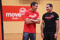 Move60 promotion in association with Coca Cola, Bike NZ and the Foundation for Youth Development at Pioneer Stadium, Christchurch, New Zealand on Saturday, 12 April 2014. Photo: Joseph Johnson.