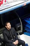 Atletico de Madrid's coach Diego Pablo Cholo Simeone during Champions League 2014/2015 Quarter-finals 2nd leg match.April 22,2015. (ALTERPHOTOS/Acero)