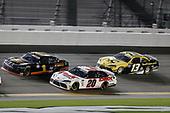 #1: Michael Annett, JR Motorsports, Chevrolet Camaro TMC, #20: Harrison Burton, Joe Gibbs Racing, Toyota Supra DEX Imaging, #13: Chad Finchum, Motorsports Business Management, Toyota Camry
