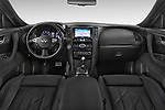 Stock photo of straight dashboard view of a 2015 Infiniti QX70 S 5 Door Suv Dashboard