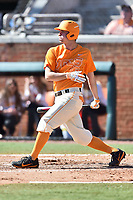 Tennessee Volunteers first baseman Andre Lipcius (13) swings at a pitch during a game against the South Carolina Gamecocks at Lindsey Nelson Stadium on March 18, 2017 in Knoxville, Tennessee. The Gamecocks defeated Volunteers 6-5. (Tony Farlow/Four Seam Images)