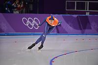 OLYMPIC GAMES: PYEONGCHANG: 14-02-2018, Gangneung Oval, Long Track, 10.000m Men, Jorrit Bergsma (NED), ©photo Martin de Jong