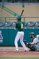 USF Bulls shortstop Nick Gonzalez (2) at bat during a game against the Dartmouth Big Green on March 17, 2019 at USF Baseball Stadium in Tampa, Florida.  USF defeated Dartmouth 4-1.  (Mike Janes/Four Seam Images)