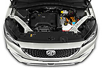 Car Stock 2021 Mg EHS Luxury 5 Door SUV Engine  high angle detail view