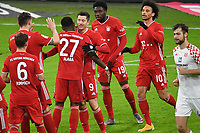 3rd January 2021, Allianz Arean, Munich Germany; Bundesliga Football, Bayern Munich versus FSV Mainz;  Goal celebrations from scorer Robert LEWANDOWSKI  (Bayern) for 4-2