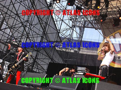 New York Dolls; Sylvain Sylvain; David Johansen; Sami Yaffa .Photo Credit: Eddie Malluk/Atlas Icons.com