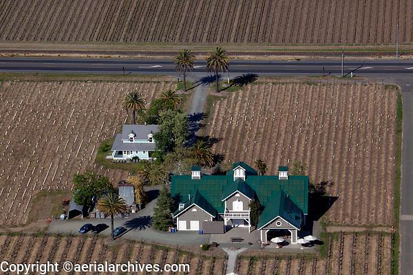 aerial photograph of the Corison Winery, St., Helena, Napa County, California