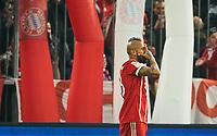 Arturo VIDAL, FCB 23 celebration 4-2, celebration, celebration, celebrates, Freude, , Feiern, Lachen, celebrates, freuen,  reisst die Arme hoch, ballt die Faust <br /> FC BAYERN MUENCHEN - TSG 1899 HOFFENHEIM  5-2<br /> Football 1. Bundesliga , Muenchen,27.01.2018, 20. match day,  2017/2018, <br />  *** Local Caption *** © pixathlon<br /> Contact: +49-40-22 63 02 60 , info@pixathlon.de<br /> Contact: +49-40-22 63 02 60 , info@pixathlon.de