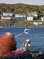Fishing equipment in the bay at St Anthony, Newfoundland and Labrador, Canada