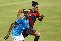 Victor Osimhen of SSC Napoli in action<br /> during the friendly football match between SSC Napoli and L Aquila 1927 at stadio Patini in Castel di Sangro, Italy, August 28, 2020. <br /> Photo Cesare Purini / Insidefoto