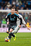 David Zurutuza Veillet of Real Sociedad is chased by Carlos Henrique Casemiro of Real Madrid during their La Liga match between Real Madrid and Real Sociedad at the Santiago Bernabeu Stadium on 29 January 2017 in Madrid, Spain. Photo by Diego Gonzalez Souto / Power Sport Images