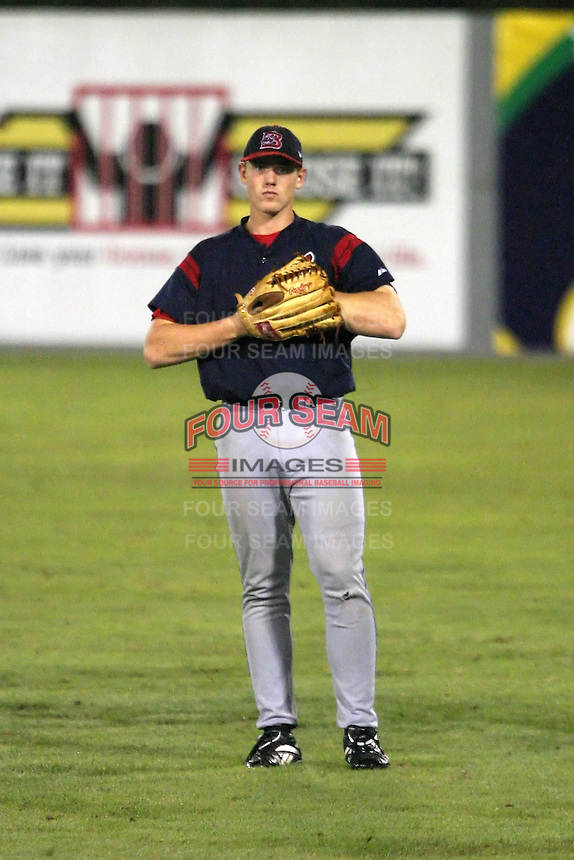 August 21, 2005:  Nicholas (Nick) Weglarz of the Burlington Indians during a game at Hunter Wright Stadium in Kingsport, TN.  Burlington is the Appalachian League Rookie affiliate of the Cleveland Indians.  Photo by:  Mike Janes/Four Seam Images