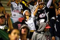 TUNJA - COLOMBIA -04-11-2016: Los Hinchas de Once Caldas, animan a su equipo durante partido entre Patriotas FC y Once Caldas, por la fecha 19 de la Liga de Aguila II 2016 en el estadio La Independencia en la ciudad de Tunja. / The fans of Once Caldas, cheer for their team during a match between Patriotas FC and Once Caldas, for date 19 of the Liga de Aguila II 2016 at La Independencia stadium in Tunja city. Photo: VizzorImage  /  Cesar Melgarejo / Cont.