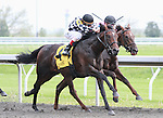 22 April 2011.  Good Better Best and John Velazquez win the 8th race over Beachcombing and Javier Castellano.
