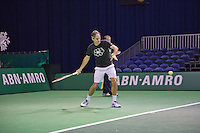 09-02-13, Tennis, Rotterdam, qualification ABNAMROWTT, Draw,l.t.r., Boris Becker and Mr. Aboutaleb major of Rotterdam and tournament director Richard Krajicek
