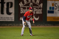 Orem Owlz left fielder Francisco Del Valle (23) during a Pioneer League game against the Helena Brewers at Kindrick Legion Field on August 21, 2018 in Helena, Montana. The Orem Owlz defeated the Helena Brewers by a score of 6-0. (Zachary Lucy/Four Seam Images)
