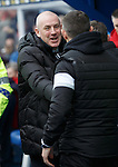 Mark Warburton and Jim McIntyre at the start of the match