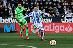 CD Leganes's Ruben Perez and Levante UD's Jose Luis Morales during La Liga match between CD Leganes and Levante UD at Butarque Stadium in Leganes, Spain. March 04, 2019. (ALTERPHOTOS/A. Perez Meca)