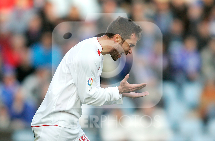 Mallorca's Ayoze Diaz reacts during La Liga match. March 11, 2010. (ALTERPHOTOS/Alvaro Hernandez)
