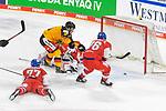 Eishockey: Deutschland – Tschechien am 01.05.2021 in der ARENA Nürnberger Versicherung in Nürnberg<br /> <br /> Tor zum 2:0 durch Deutschlands Frederick Tiffels (Nr.95)<br /> <br /> Foto © Duckwitz/osnapix/PIX-Sportfotos *** Foto ist honorarpflichtig! *** Auf Anfrage in hoeherer Qualitaet/Aufloesung. Belegexemplar erbeten. Veroeffentlichung ausschliesslich fuer journalistisch-publizistische Zwecke. For editorial use only.