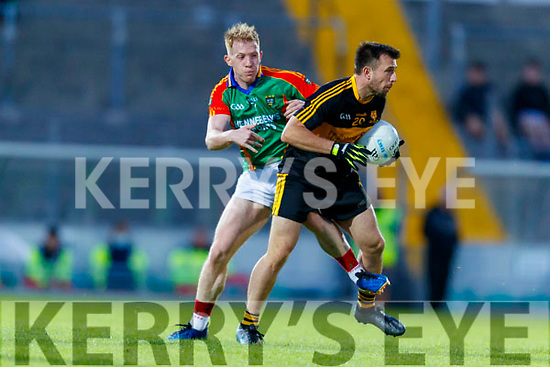 John Payne, Dr. Crokes in action against Pa Kilkenny, Mid Kerry during the Kerry County Senior Football Championship Semi-Final match between Mid Kerry and Dr Crokes at Austin Stack Park in Tralee, Kerry.