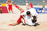 Iran vs Mongolia during the Sambo competition on Day Nine of the 5th Asian Beach Games 2016 at Bien Dong Park on 02 October 2016, in Danang, Vietnam. Photo by Marcio Machado / Power Sport Images