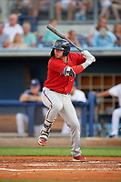 Fort Myers Miracle Ryan Costello (13) at bat during a Florida State League game against the Charlotte Stone Crabs on April 6, 2019 at Charlotte Sports Park in Port Charlotte, Florida.  Fort Myers defeated Charlotte 7-4.  (Mike Janes/Four Seam Images)