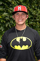 Gray Fenter (58) of West Memphis High School in West Memphis, Arkansas poses for a photo during practice before the Under Armour All-American Game on August 16, 2014 at Wrigley Field in Chicago, Illinois.  (Mike Janes/Four Seam Images)