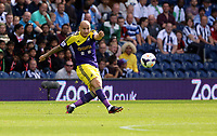 Pictured: Jonjo Shelvey of Swansea. Sunday 01 September 2013<br /> Re: Barclay's Premier League, West Bromwich Albion v Swansea City FC at The Hawthorns, Birmingham, UK.