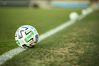 SAN JOSE, CA - OCTOBER 18: MLS soccer balls before a game between Seattle Sounders FC and San Jose Earthquakes at Earthquakes Stadium on October 18, 2020 in San Jose, California.
